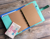 DISC PUNCHED PLANNER PAPER FITS HAPPY PLANNER or LEVENGER CIRCA - KRAFT PAPER