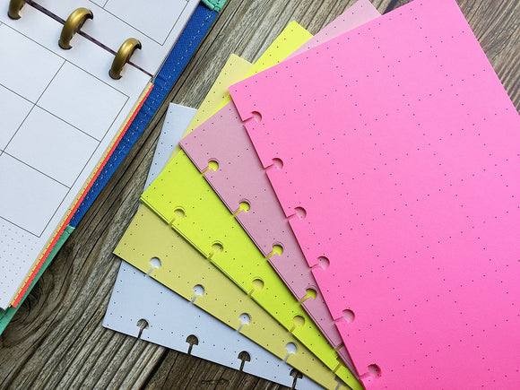 DISC PUNCHED PLANNER PAPER - FITS HAPPY PLANNER or LEVENGER CIRCA - PINK LEMONADE