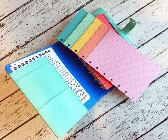 DISC PUNCHED PLANNER PAPER - FITS HAPPY PLANNER or LEVENGER CIRCA - MELON