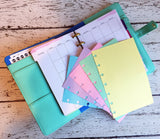 DISC PUNCHED PLANNER PAPER - FITS HAPPY PLANNER or LEVENGER CIRCA - PASTEL