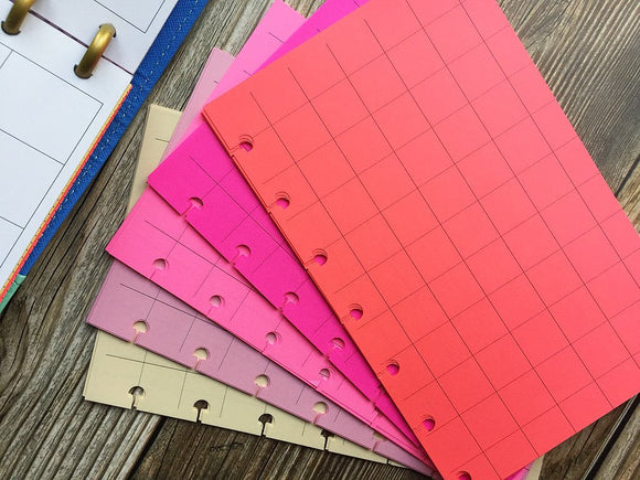 DISC PUNCHED PLANNER PAPER - FITS HAPPY PLANNER or LEVENGER CIRCA - PEONY