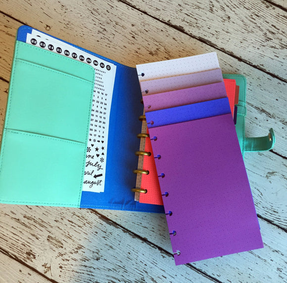 DISC PUNCHED PLANNER PAPER - FITS HAPPY PLANNER or LEVENGER CIRCA - PURPLE PASSION