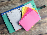 DISC PUNCHED PLANNER PAPER - FITS HAPPY PLANNER or LEVENGER CIRCA - RED HOT