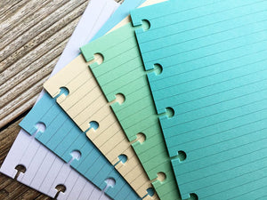DISC PUNCHED PLANNER PAPER - FITS HAPPY PLANNER or LEVENGER CIRCA - COOL SEAGLASS