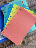 DISC PUNCHED PLANNER PAPER - FITS HAPPY PLANNER or LEVENGER CIRCA - SURF'S UP!
