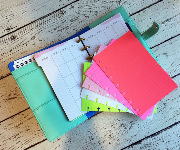 DISC PUNCHED PLANNER PAPER - FITS HAPPY PLANNER or LEVENGER CIRCA - WATERMELON