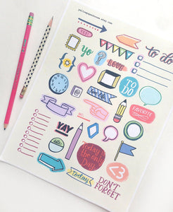 PRINTABLE DOWNLOAD - DOODLES