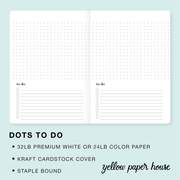 TRAVELERS NOTEBOOK INSERT - DOTS TO DO