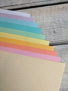 DISC PUNCHED PLANNER PAPER - FITS HAPPY PLANNER or LEVENGER CIRCA - PASTEL RAINBOW
