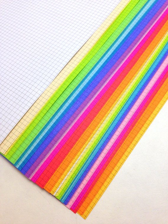 DISC PUNCHED PLANNER PAPER - FITS HAPPY PLANNER or LEVENGER CIRCA - ULTIMATE RAINBOW