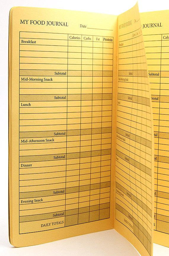 TRAVELERS NOTEBOOK INSERT - FOOD JOURNAL