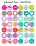 PRINTABLE DOWNLOAD - FRUITY COLLECTION - CIRCLES