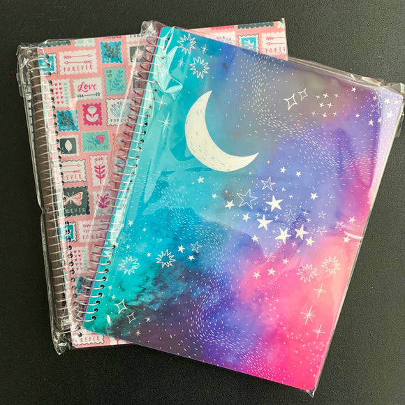 CLEARANCE - 1st Quality - 2x Classic Notebook - Galaxy & Stamp Collector (S41)