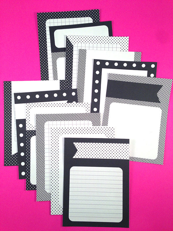 PRINTABLE DOWNLOAD - JOURNAL CARDS - BLACK & WHITE