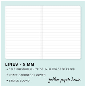 TRAVELERS NOTEBOOK INSERT - LINES - 5 MM