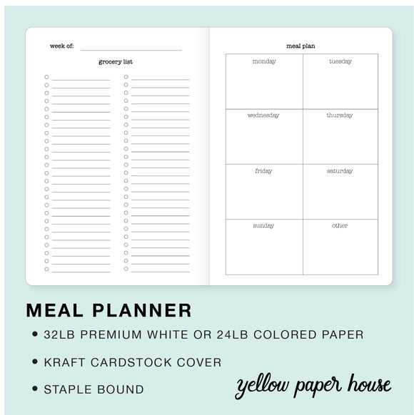 TRAVELERS NOTEBOOK INSERT - MEAL PLANNER