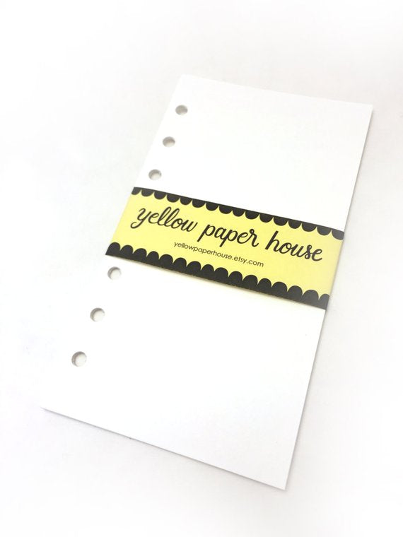 FILOFAX STYLE PLANNER PAPER - 6 RING - MIXED MEDIA ART PAPER