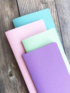TRAVELERS NOTEBOOK INSERT - PASTEL ON PASTEL VALUE BUNDLE - 4 INSERTS