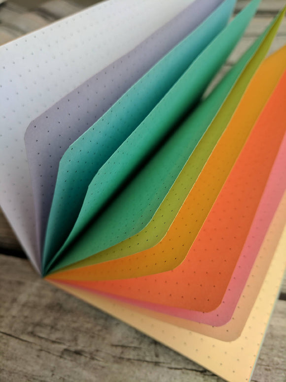 TRAVELERS NOTEBOOK INSERT - PASTEL RAINBOW