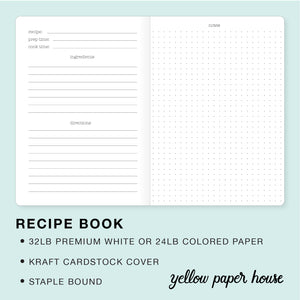 TRAVELERS NOTEBOOK INSERT - RECIPE BOOK