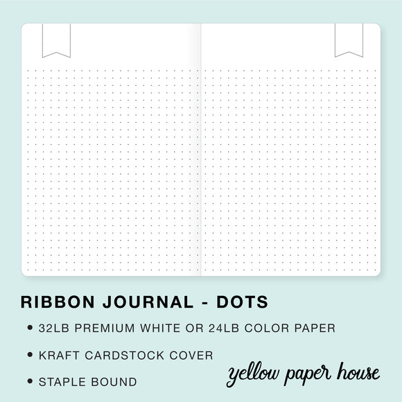 TRAVELERS NOTEBOOK INSERT - RIBBON JOURNAL - DOTS