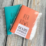 TRAVELERS NOTEBOOK INSERT - WEDDING / MARRIAGE VOW BOOKS