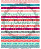 PRINTABLE DOWNLOAD - WASHI TAPE STRIPS