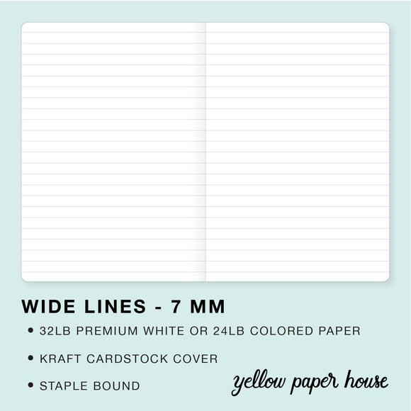 TRAVELERS NOTEBOOK INSERT - WIDE LINES - 7 MM