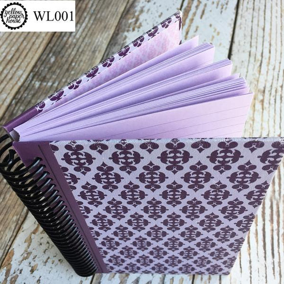 UPCYCLED SPIRAL JOURNAL - Wide Lined Paper - WL001