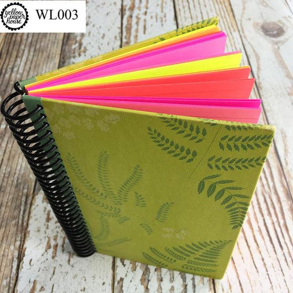 UPCYCLED SPIRAL JOURNAL - Wide Lined Paper - WL003