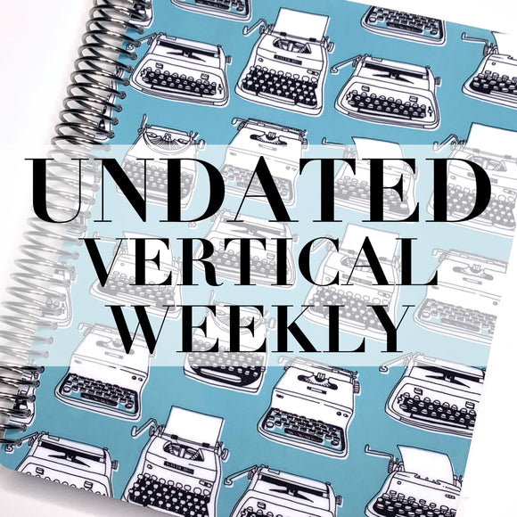 CLEARANCE - 2nd Quality - Spiral Undated Vertical Weekly Planner