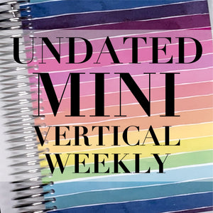 CLEARANCE - 1st Quality - Spiral Mini Undated Vertical Weekly Planner