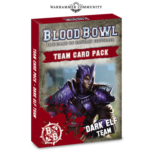 Blood Bowl Dark Elf Team Cards