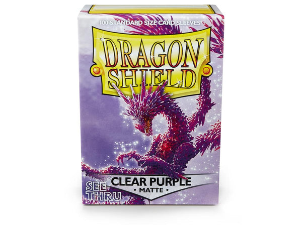 Dragon Shields: (100) Matte Clear Purple