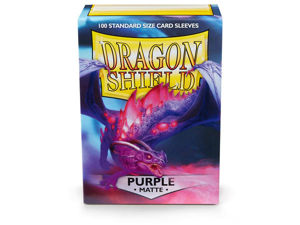 Dragon Shields: (100) Matte Purple
