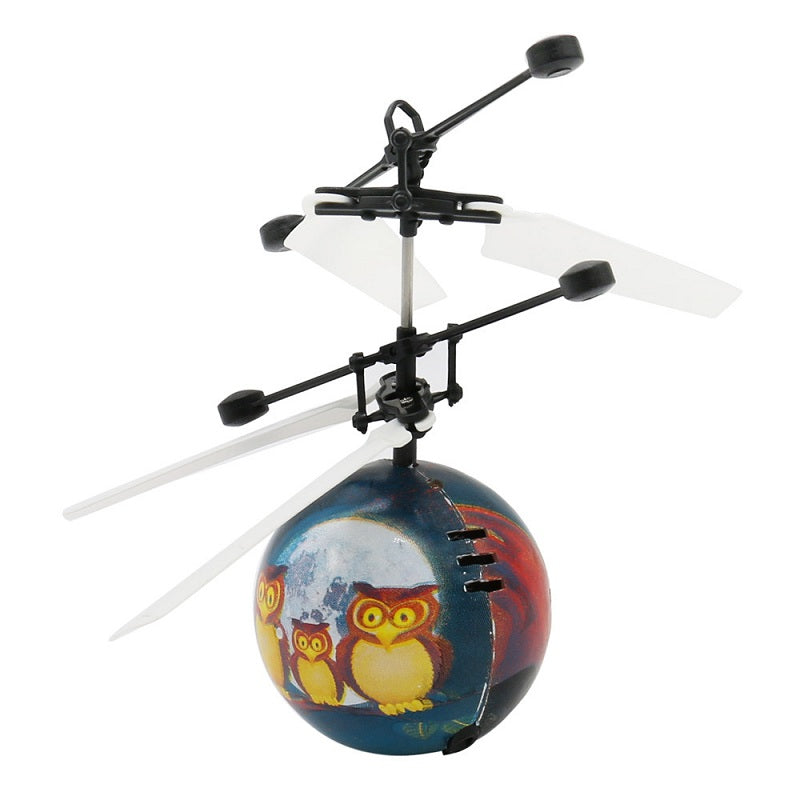 Innovative Luminous Flying Ball Owl Pattern RC Helicopter LED Lighting Toy for Children