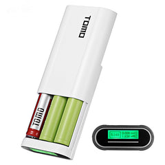 TOMO T3 Power Bank 3pcs 18650 Li-ion Battery Dual USB Charger DIY Case Box for Mobile Phone
