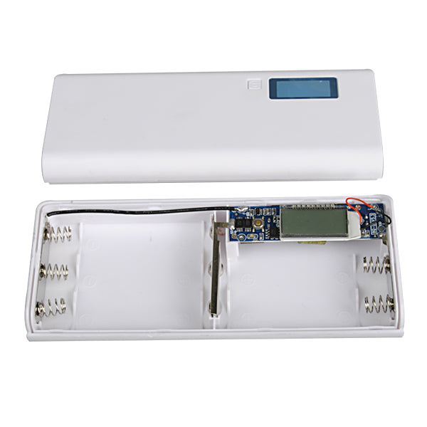 DIY 5*18650 LCD Display Power Bank Battery Charger Box With 5 Input Interface