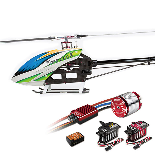 ALIGN T-REX 500X Helicopter Dominator Super Combo