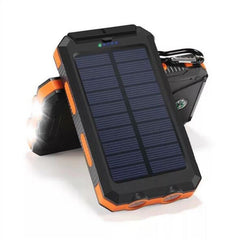 Bakeey 20000mAh Dual USB DIY Solar Power Bank Case Kit with LED Light Compass