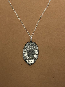 Custom Police Badge Necklace