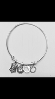 Create your own Bangle Bracelet with 2 Charms