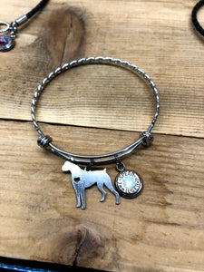 Custom Dog Breed Braided Bangle