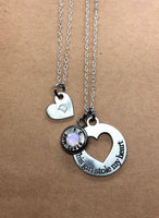 Mother/ Daughter Necklace with Bullet Casing