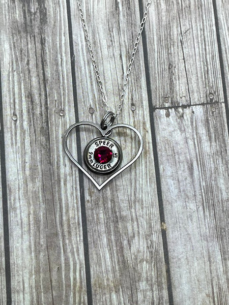 Heart Bullet Necklace