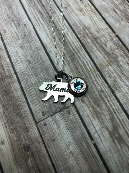 Mama Bear Necklace w/ Bullet