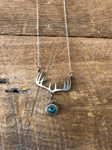 Double Antler Bullet Necklace