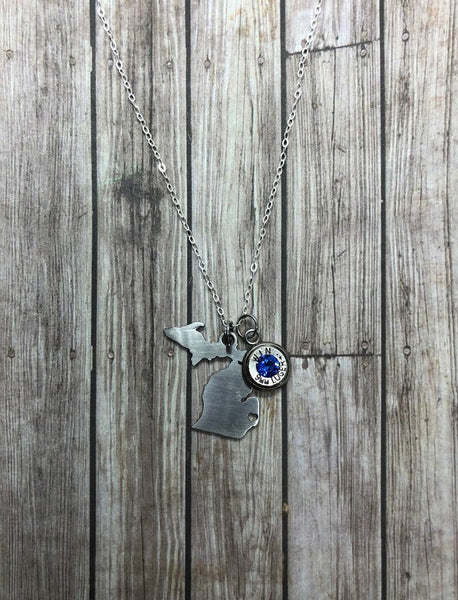 State Necklace with Bullet