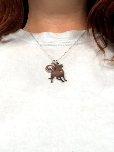 Dog Necklace with Bullet Charm