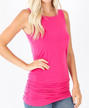 Rutched Sleeveless Top